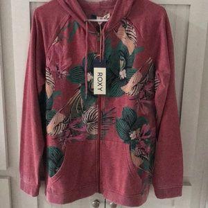 NWT Roxy zip up hoodie